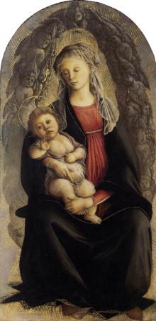 Madonna In Gloria Di Serafini