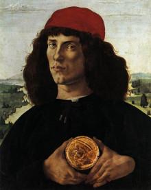 Ritratto D'uomo Con Medaglia Di Cosimo Il Vecchio