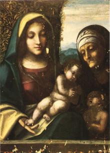 Madonna Col Bambino Tra I Santi Elisabetta E Giovanni Battista