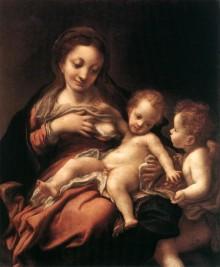 Madonna Del Latte E Un Angelo