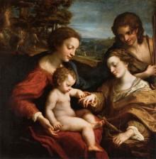 Matrimonio Mistico Di Santa Caterina D'Alessandria Alla Presenza Di San Sebastiano