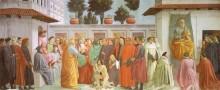 Resurrezione del figlio di Teofilo e San Pietro in cattedra