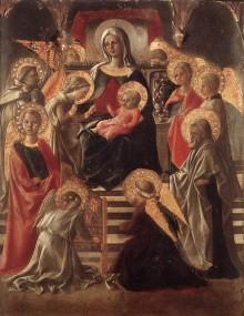 Madonna In Trono Fra Angeli E Santi