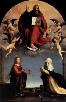 Dio Padre In Gloria Tra Le Sante Maria Maddalena E Caterina Da Siena