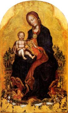 Madonna In Trono Col Bambino E Angeli Musicanti