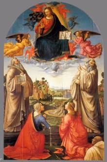 Cristo In Gloria Con Quattro Santi E Un Donatore