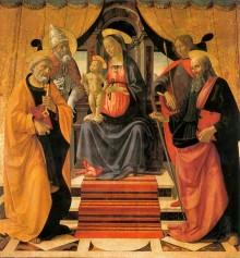 Madonna In Trono Col Bambino E Santi