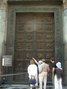 Porta Nord Del Battistero Di Firenze