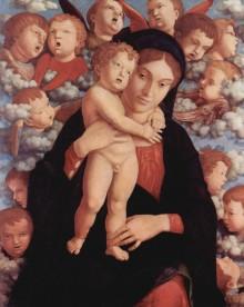 Madonna Col Bambino E Un Coro Di Cherubini