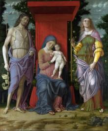 Madonna Col Bambino Tra I Santi Giovanni Battista E Maria Maddalena