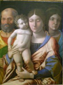 Sacra Famiglia Con Una Santa