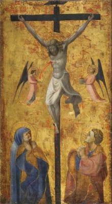 Crocifissione Coi Dolenti E Due Angeli