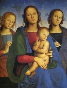 Madonna Col Bambino Tra Santa Caterina D'Alessandria E Una Santa