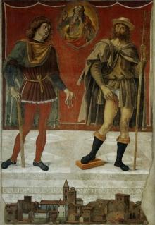 Padre Eterno Con I Santi Rocco E Romano