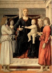 Madonna Col Bambino E Quattro Angeli