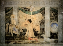 Sigismondo Pandolfo Malatesta In Preghiera Davanti A San Sigismondo
