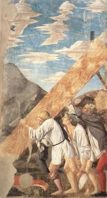 Sollevamento Del Legno Della Croce