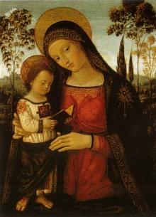 Madonna Col Bambino Leggente