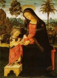 Madonna Col Bambino Scrivente
