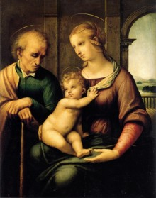 Sacra Famiglia Con San Giuseppe Imberbe